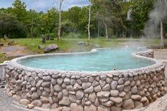San Kamphaeng Hot Springs i Chiangmai Arkivfoton