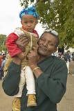 San Lazaro Catholic Church, father and baby in El Rincon, Cuba Royalty Free Stock Photo