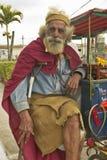 San Lazaro Catholic Church with older man in El Rincon, Cuba Royalty Free Stock Photos