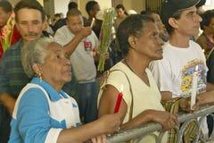 San Lazaro Catholic Church and people praying in El Rincon, Cuba Stock Images