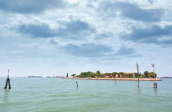 San Lazzaro degli Armeni island in Venice Stock Photos