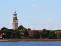 san Lazzaro degli Armeni in the venetian lagoon Stock Image