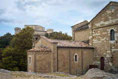 San Leo: the Duomo and the Castle. Color image Stock Photo