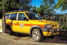San Leo - Emergency rescue car Royalty Free Stock Image