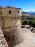 San Leo - fortaleza de San Leo Foto de archivo libre de regalías
