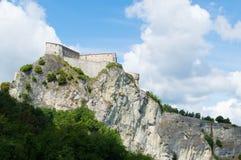 San Leo historical castle in Romagna countryside Stock Photos