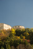 San Leo hystoric castle in Romagna countryside travel Italy Royalty Free Stock Image