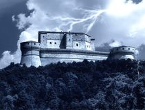 San leo' s castle in italy Stock Photo