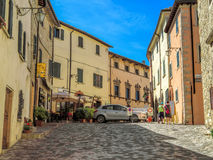 San Leo - Street of the medieval village Royalty Free Stock Photos