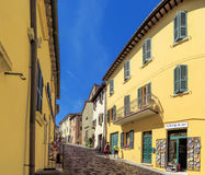 San Leo - Street of the medieval village Royalty Free Stock Photography
