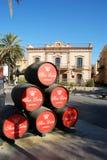 San Leon sherry barrels, Sanlucar de Barrameda. Royalty Free Stock Image