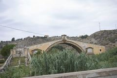 San Leonardo Bridge dans les terminus Imerese image libre de droits