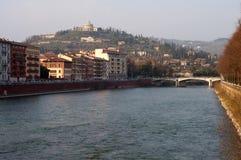 San Leonardo forteca w Verona, Włochy Obraz Stock