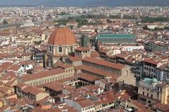San Lorenzo и центральный рынок Стоковая Фотография RF