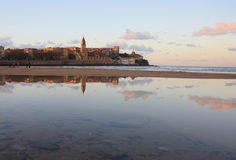 San Lorenzo beach, Gijon Royalty Free Stock Image