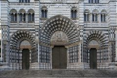 San Lorenzo, the Cathedral of Genoa Stock Photography