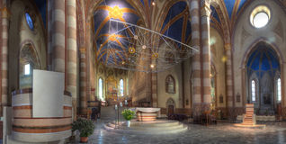 San Lorenzo cathedral interior. Stock Photos