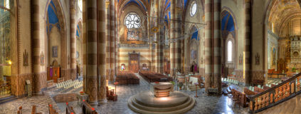San Lorenzo cathedral interior. Stock Image