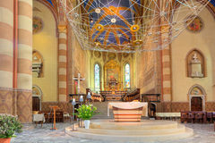San Lorenzo Cathedral interior view in Alba, Italy. Royalty Free Stock Image