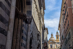 San Lorenzo cathedral Santi Ambrogio church of Genova. Liguria, Royalty Free Stock Photo