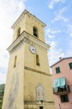 San Lorenzo church bell tower, Manarola, Cinque Terre, Italy Royalty Free Stock Photos