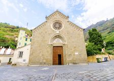 San Lorenzo church, Manarola, Cinque Terre, Italy Stock Photography