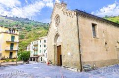 San Lorenzo church, Manarola, Cinque Terre, Italy Royalty Free Stock Photos