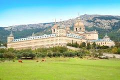 San Lorenzo de El Escorial皇家修道院  免版税库存照片