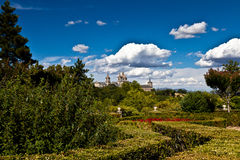 San Lorenzo de El Escorial Monastery Spires, Spain Stock Photos