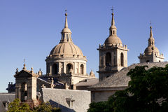 San Lorenzo de El Escorial Monastery Spires, Spain Royalty Free Stock Photo