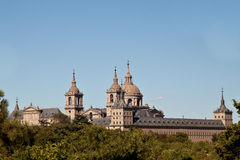 San Lorenzo de El Escorial Monastery Spires, Spain Royalty Free Stock Image