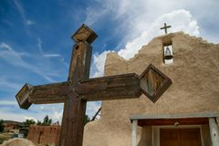 San Lorenzo de Picuris church in New Mexico Stock Image
