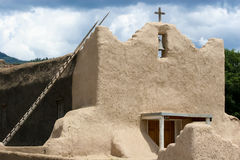 San Lorenzo de Picuris church in New Mexico. View at San Lorenzo de Picuris church in New Mexico stock photography