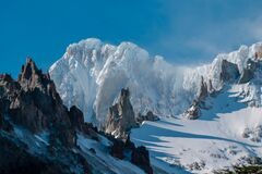 Free San Lorenzo Highest Mountain In Patagonia, Chile Stock Photography - 184406282