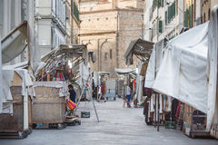 San Lorenzo Leather Market Florence Photos libres de droits