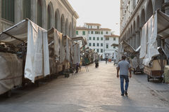 San Lorenzo Leather Market Florence Images libres de droits