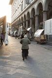 San Lorenzo Leather Market Florence Images stock