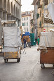 San Lorenzo Leather Market Florence Stock Image