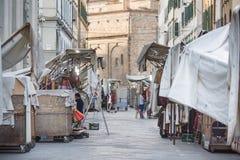 San Lorenzo Leather Market Florence Royalty Free Stock Photos