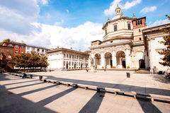 San Lorenzo Maggiore basilica in Milan city Royalty Free Stock Image
