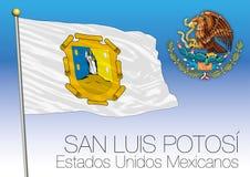 San Louis Potosi regional flag, United Mexican States, Mexico. San Louis Potosi  regional flag, United Mexican States, Mexico, vector illustration Royalty Free Stock Photo