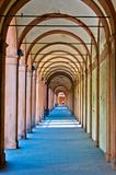 San Luca arcade in Bologna, Italy. San Luca arcade is the longest porch in the world. Bologna, Italy Stock Images