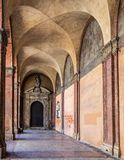 San luca arcade in Bologna, Italy. San luca arcade in Bologna in Italy Stock Photography