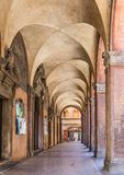 San luca arcade in Bologna, Italy. San luca arcade in Bologna in Italy Stock Photo