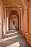 San Luca arcade in Bologna, Italy. San Luca arcade is the longest porch in the world. Bologna, Italy Stock Photo