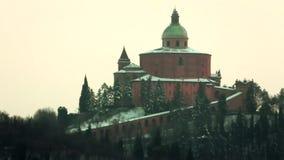 San Luca Church con neve stock footage