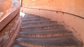 San Luca porch stairway. Bologna, Italy - September 29, 2018: ascending the stairway the San Luca church, under the archway from Bologna city in Italy stock video