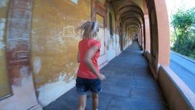 San Luca Sanctuary valvgång arkivfilmer