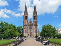 San Ludmila Church a Praga, repubblica Ceca Fotografie Stock Libere da Diritti