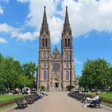 San Ludmila Church a Praga, repubblica Ceca Immagini Stock
